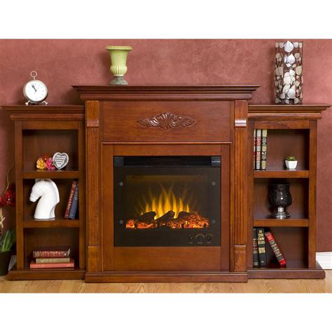 tennyson bookcase electric fireplace southern enterprises inc tennyson electric fireplace