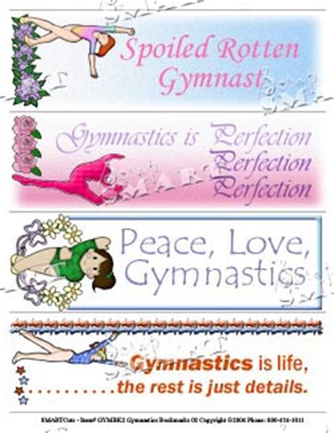 Printable Gymnastics Bookmarks | printable gymnastics quotes quotesgram