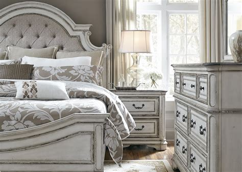 liberty furniture magnolia manor queen bedroom group magnolia manor bedroom 244 in antique white by liberty