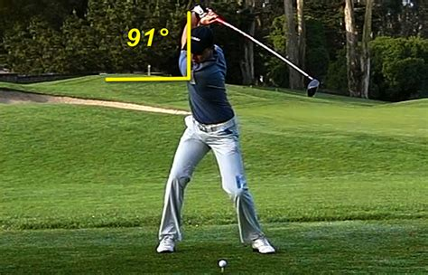top of golf swing golf swing range measuring how far you turn away from the