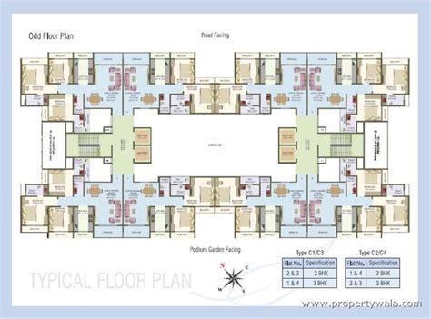 one hyde park floor plans nisarg hyde park kharghar navi mumbai residential