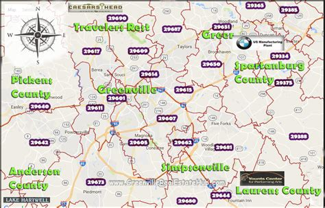 Greenville County Search Greenville Sc Zip Code Map Zip Code Map
