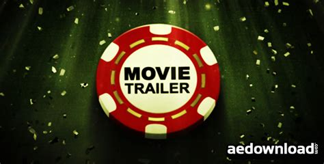 template after effects poker poker movie trailer after effects project videohive