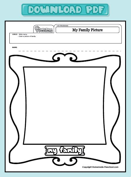 worksheets for preschool about family free coloring pages of family worksheet