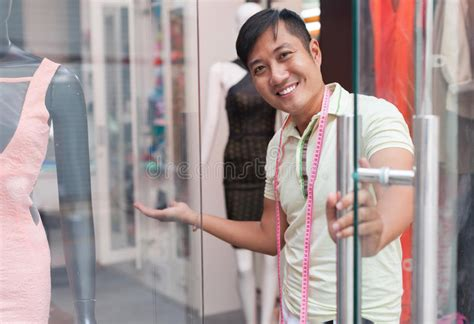 Welcome Style It Less by Asian Welcome Tailor Shop Fashion Clothes Stock Photo