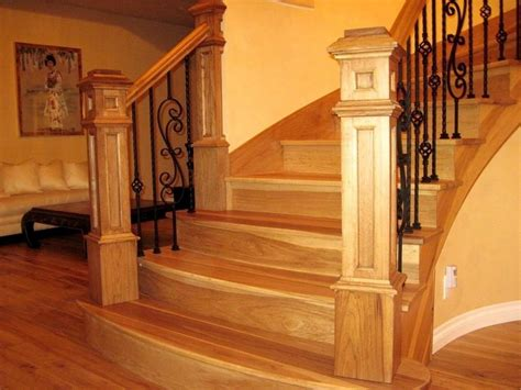 steel balusters direct shipping canada usa wide every day king box newel post 7 1 2 hickory splash carpentry