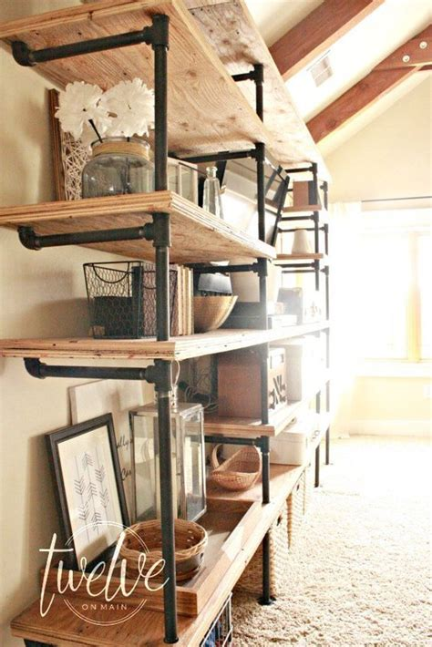 diy industrial pipe shelves imagination pipes and