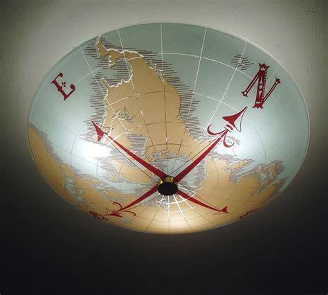 Nautical Ceiling Vintage Nautical World Map Compass Ceiling Light Fixture