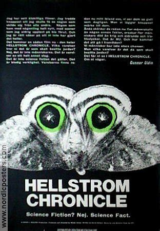 the hellstrom chronicle 1971 full movie hellstrom chronicle poster 1971 walon green original