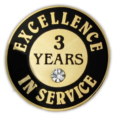 3 years in years 3 years of service pin w