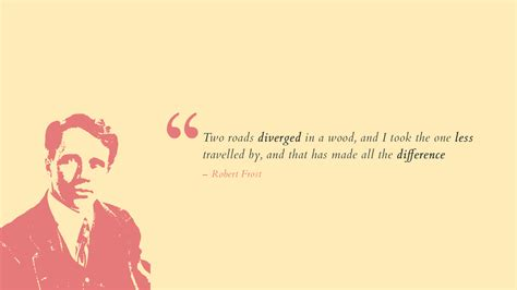 wallpaper difference robert frost popular quotes hd