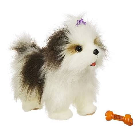 fur real puppy furreal friends lil patter pup shih tzu electronic hasbro furreal friends