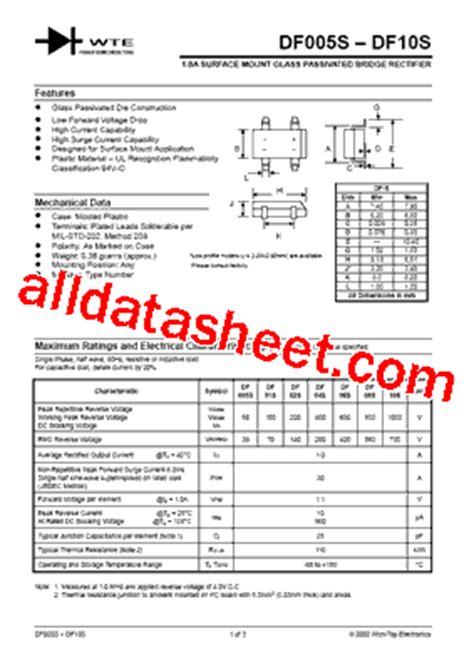 diodes inc df06s df06s 데이터시트 pdf won top electronics