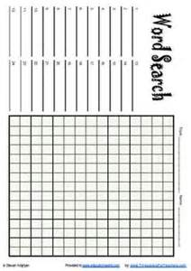 Empty Word Search Grid Template by Free Printable Blank Word Search Puzzle Grid For Teachers