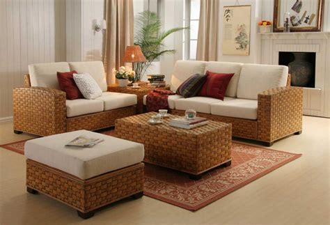 wicker living room set contemporary room design ideas indoor and rattan living