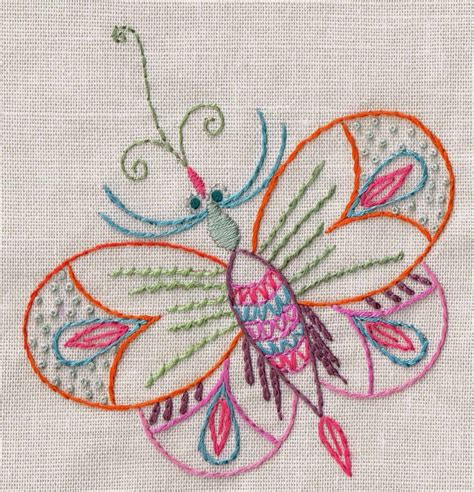 free butterfly hand embroidery nancy nicholson