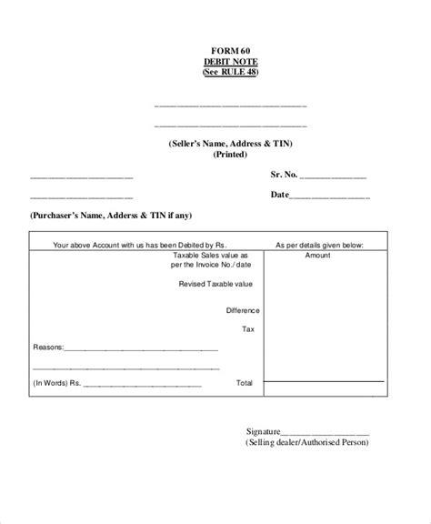 debit note templates 5 free word pdf format download
