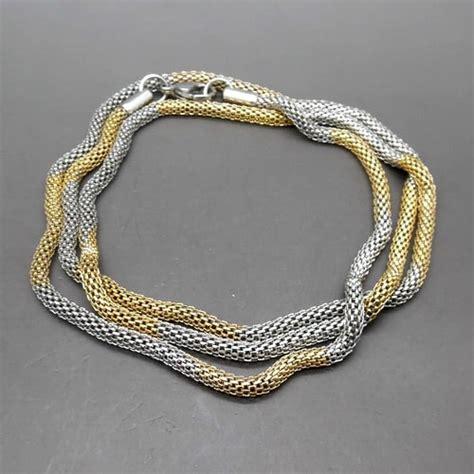 Kalung Nama Titanium kalung titanium kuning emas putih pusaka dunia