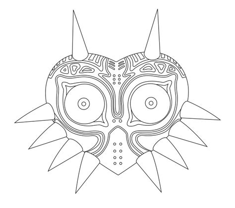 link majora s mask card template 12 images of mask coloring page legend of
