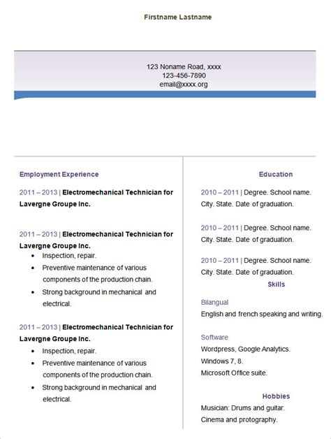 blank cv format for freshers 46 blank resume templates doc pdf free premium templates