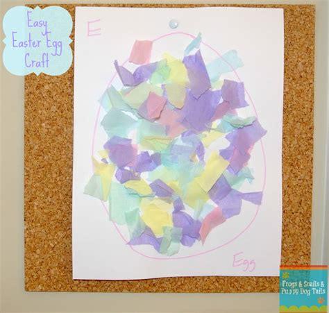 Tissue Paper Easter Crafts - easter egg craft torn tissue paper fspdt
