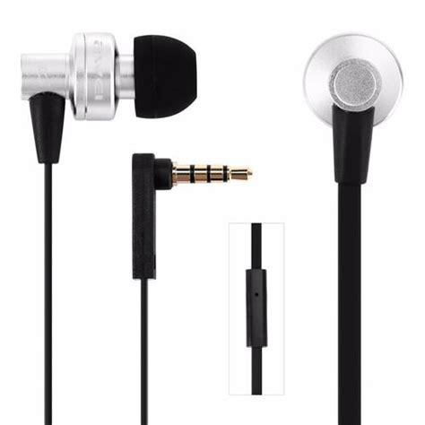 3 5 Mm In Ear Headphones Silver awei es 900i in ear stereo headphones with microphone 3