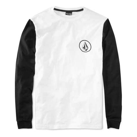 Longsleev Kaos Volcom 1 lyst volcom longsleeve contrast tshirt in white for