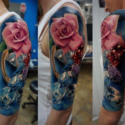 black diamond tattoo jasper alberta unique rose diamond tattoo by dareckitattoo webstagram