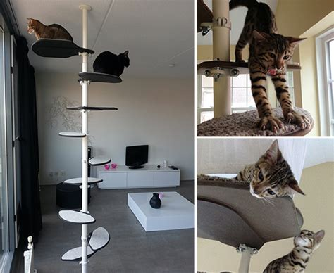 modern cat tree ikea elegant modern cat climbing tower from hollywood franklin