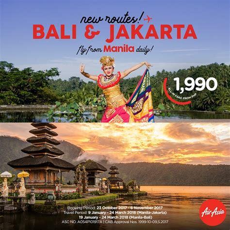 airasia promo bali air asia offers promo seats to bali and jakarta orange