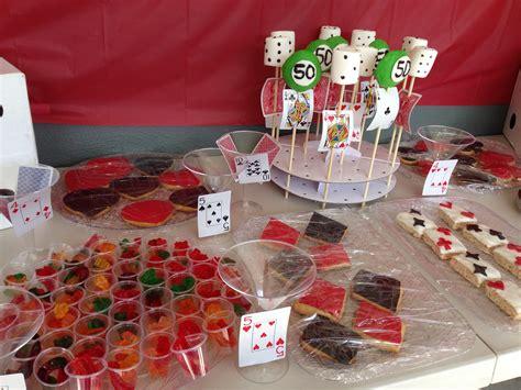 vegas themed birthday party ideas casino night theme las vegas theme treats 50th birthday