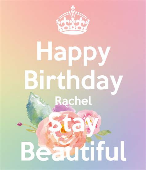 Beautiful Mugs by Happy Birthday Rachel Stay Beautiful Poster Courtney