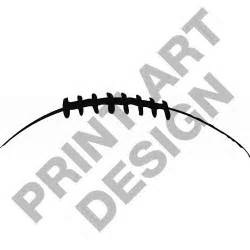 Football Laces Outline by Half Football Clipart Clipartsgram