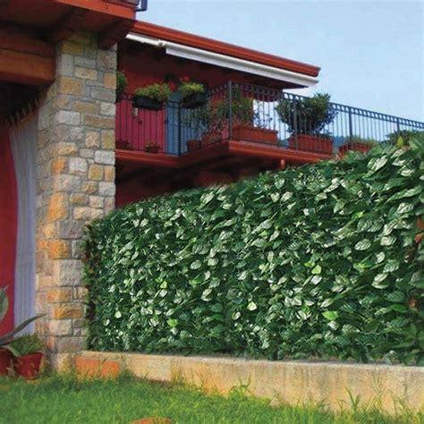 recinzioni da giardino in pvc recinzione in pvc da esterno con foglie di lauro l 300 cm