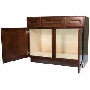 42 inch cherry mahogany leo saddle bathroom vanity cabinet