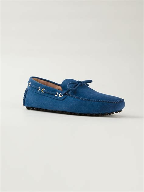 car shoe loafers car shoe loafer shoes in blue for lyst