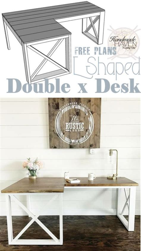 farmhouse l shaped desk 40 easy awesome diy desks you can build on a budget
