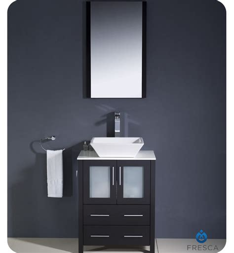 bathroom vanities for vessel sinks fresca torino 24 quot espresso modern bathroom vanity w