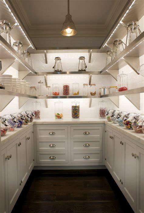 Stainless Steel Pantry Shelving by Functional And Creative Kitchen Pantry Ideas Noted List