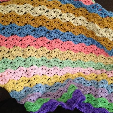 wave pattern in crochet free pattern for irish wave blanket crochet pinterest