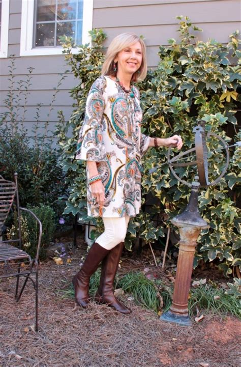 bohemian for over 60 fashion over 50 boho top and boots southern hospitality