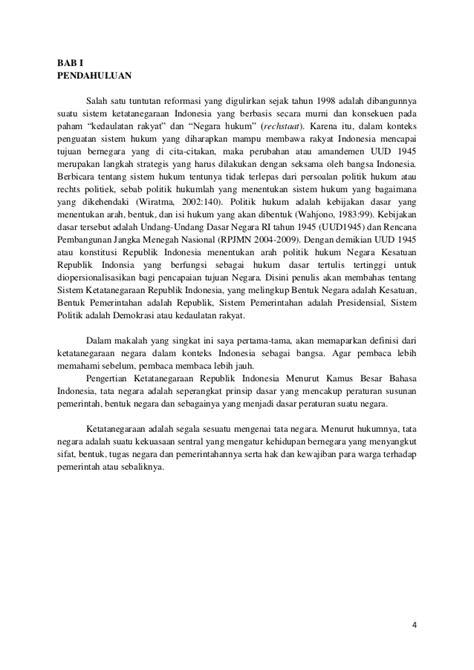 Pengantar Hukum Indonesia Jilid 1 Hkm Indonesia Reformasi Oleh M Bakri sistem ketatanegaraan indonesia