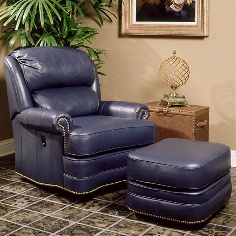 Blue Leather Chair And Ottoman Design Ideas Chairs With Ottomans For Living Room Homesfeed