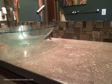 Cast Concrete Countertop by Concrete Countertops Design Rivercast Concrete