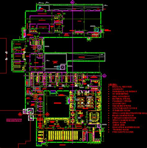 hospitalindia dwg plan  autocad designs cad