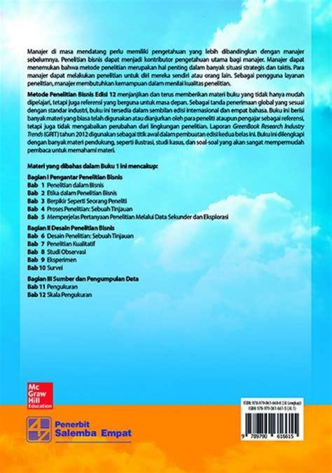 Buku Metode Penelitian Bisnis Edisi 12 Buku 1 bukukita metode penelitian bisnis edisi 12 buku 1