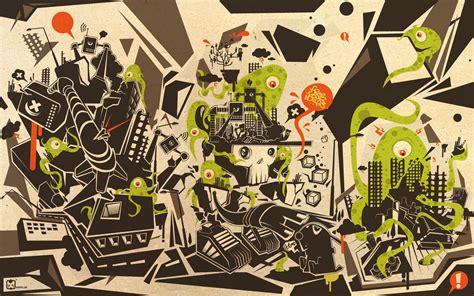 wallpaper abstract cartoon trees wallpaper 1920x1200 57127