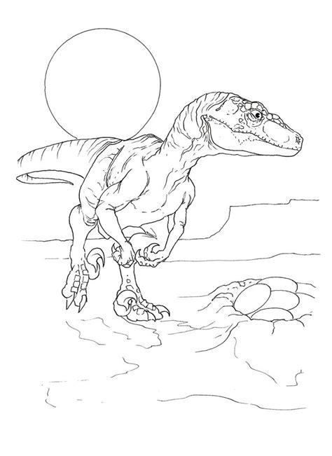 Coloring Page Velociraptor by Velociraptor Coloring Pages Best Coloring Pages For