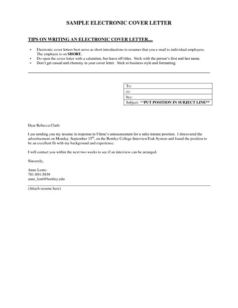 short cover letter sle for email guamreview com