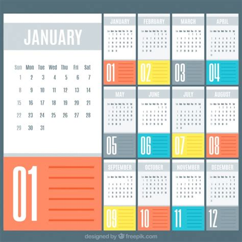 simple 2017 calendar template vector free download